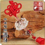 平安福禄护身白水晶黄水晶莲花挂件汽车挂饰(多种材质可选)