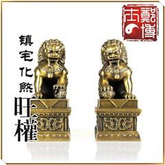 精品铜狮摆件