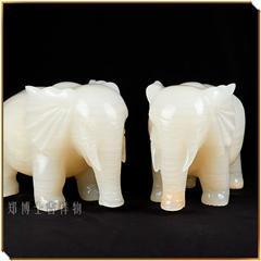 平安如意助事业巴基斯坦冰白玉吉祥大象